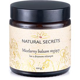 Natural Secrets Micelarny balsam myjący len z drzewem różanym, 100 g