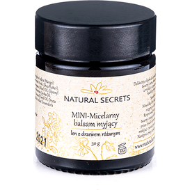 Natural Secrets Micelarny balsam myjący z drzewem różanym, 30 g