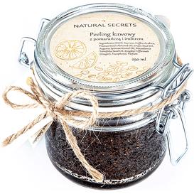 Natural Secrets Peeling kawowy z pomarańczą i imbirem, 250 g