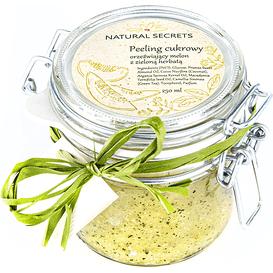 Natural Secrets Peeling cukrowy orzeźwiający melon z zieloną herbatą, 250 g