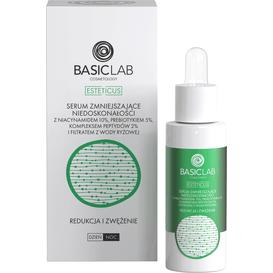 BasicLab Serum zmniejszające niedoskonałości z niacynamidem 10% - Redukcja i zwężenie, 30 ml