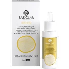 BasicLab Antyoksydacyjne serum regenerujące z witaminą C - Odżywienie i wyrównanie, 30 ml