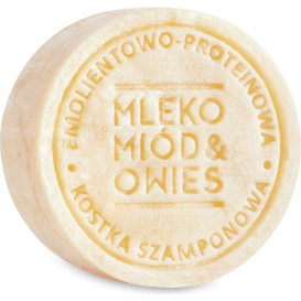 Ministerstwo Dobrego Mydła Szampon w kostce - Mleko, miód i owies, 85g