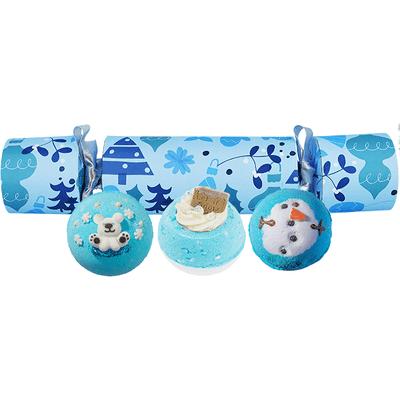 Zestaw upominkowy w kształcie cukierka - All I Want For Christmas is Blue Bomb Cosmetics