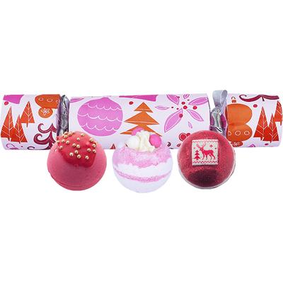 Zestaw upominkowy w kształcie cukierka - We Wish You a Rosy Christmas Bomb Cosmetics