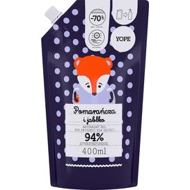 Yope Żel pod prysznic dla dzieci - Pomarańcza i jabłko - refill, 400 ml