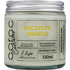 Ooroc Świeca sojowa mała w słoiku - Soczyste mango, 120 ml