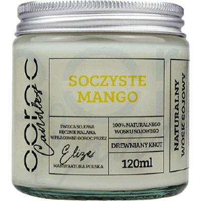Świeca sojowa mała w słoiku - Soczyste mango Ooroc