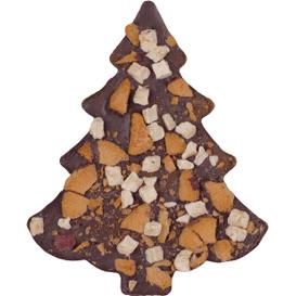 M.Pelczar Chocolatier Choinka z gorzkiej czekolady ze śliwką, jabłkami i cynamonem, 110 g
