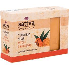 Sattva Ayurveda Mydło glicerynowe z kurkumą, 125 g