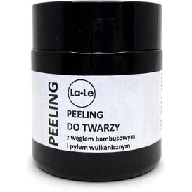 La-Le Kosmetyki Peeling do twarzy z węglem bambusowym i pyłem wulkanicznym, 120 ml