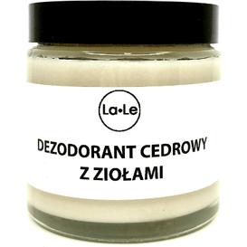 La-Le Kosmetyki Dezodorant ekologiczny w kremie - Cedr z ziołami, 120 ml