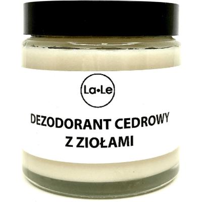 Dezodorant ekologiczny w kremie - Cedr z ziołami La-Le Kosmetyki