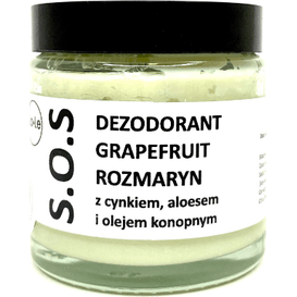 La-Le Kosmetyki Dezodorant w kremie SOS z aloesem i cynkiem - Grapefruit i rozmaryn, 120 ml
