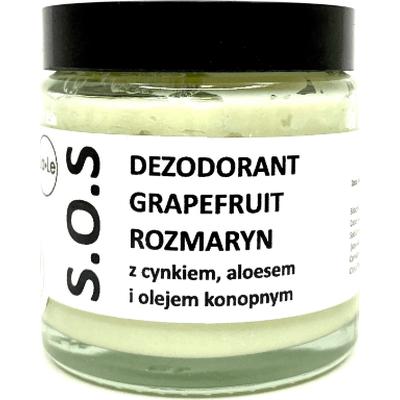 Dezodorant w kremie SOS z aloesem i cynkiem - Grapefruit i rozmaryn La-Le Kosmetyki