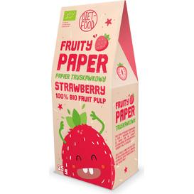Diet Food Papier owocowy - 100% bio truskawka, 25 g