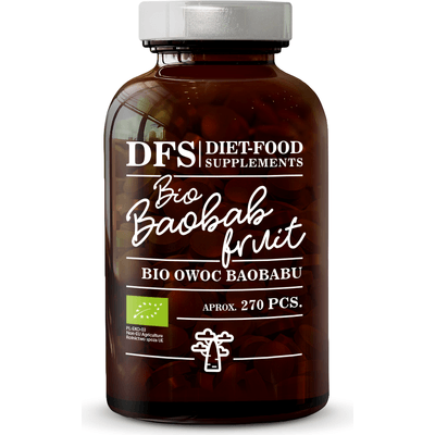 Bio Baobab Fruits - Owoc baobabu - suplement diety w tabletkach Diet Food