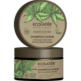 Ecolatier Szampon-peeling do skóry głowy i włosów - Nawilżający detoks