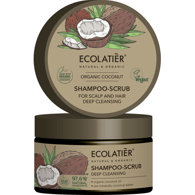 Szampon-peeling do skóry głowy i włosów - Głębokie oczyszczenie Ecolatier