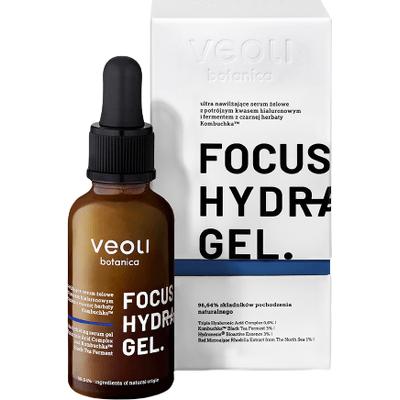 Nawilżające serum z kwasem hialuronowym i fermentem z czarnej herbaty Kombuchka - Focus hydration gel Veoli Botanica