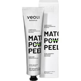 Veoli Botanica Multikwasowy peeling enzymatyczny do twarzy - Matcha power peel, 75 ml