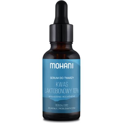 Rozjaśniające serum do twarzy z kwasem laktobionowym 10% Mohani