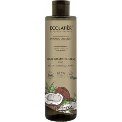 Szampon-balsam do włosów 2w1 z ekstraktem z kokosa Ecolatier