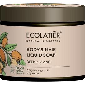Ecolatier Mydło w płynie do ciała i włosów - Głębokie odżywienie
