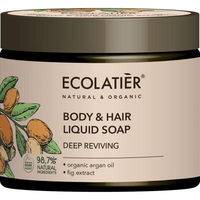 Mydło w płynie do ciała i włosów - Głębokie odżywienie Ecolatier