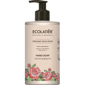 Ecolatier Mydło do rąk z organicznym ekstraktem z róży - Młodość i piękno, 460 ml