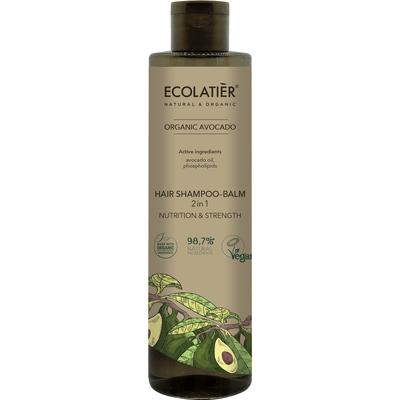 Szampon-balsam do włosów 2w1 - Odżywienie i siła Ecolatier