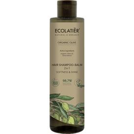 Ecolatier Szampon-balsam do włosów 2w1 - Miękkość i połysk