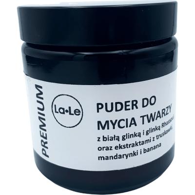 Puder do mycia twarzy na bazie glinek i naturalnych ekstraktów La-Le Kosmetyki