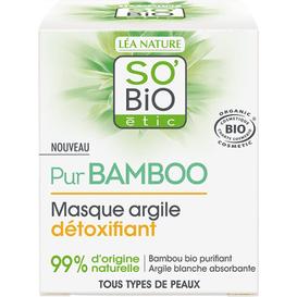 So Bio Detoksykująca maseczka z glinką i bambusem, 50 ml