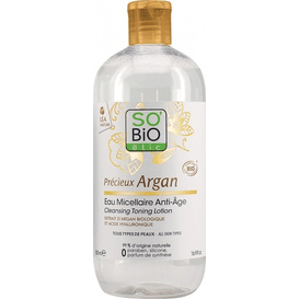 So Bio Przeciwzmarszczkowa woda micelarna z olejem arganowym, 500 ml