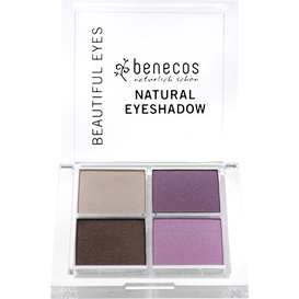 Benecos Paletka Quattro 4 naturalnych cieni do powiek - Beautiful eyes, 8g