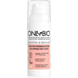 OnlyBio Krem przeciwzmarszczkowy do twarzy - Bakuchiol&Skwalan, 50 ml