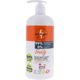 4organic Żel do mycia i kąpieli dla dzieci i rodziny - Fruity, 1 L