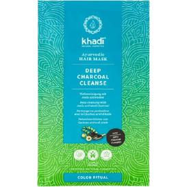 Khadi Głęboko oczyszczająca maska do włosów - Aktywny węgiel i amla, 50 g