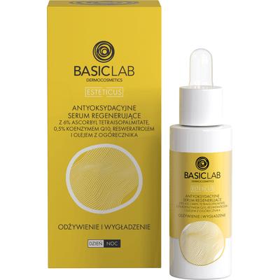 Antyoksydacyjne serum przeciwzmarszczkowe i regenerujące - odżywienie i wygładzenie - 30ml BasicLab