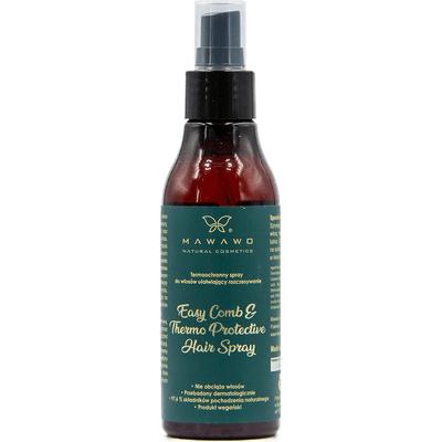 Termoochronny spray do włosów ułatwiający rozczesywanie - duże opakowanie Mawawo