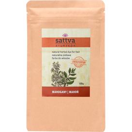 Sattva Ayurveda Farba ziołowa do włosów - Mahoń, 100 g