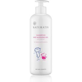 Naturativ Szampon i żel myjący dla dzieci i noworodków - duży, 500 ml