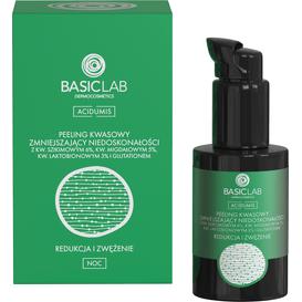 BasicLab Peeling kwasowy zmniejszający niedoskonałości - Redukcja i zwężenie, 30 ml