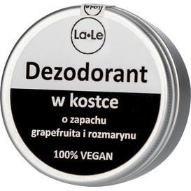 La-Le Kosmetyki Dezodorant w kostce o zapachu grapefruita i rozmarynu, 50 ml
