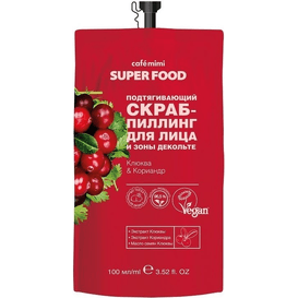 Cafe Mimi Peeling do twarzy i dekoltu - Żurawina i kolendra, 100 ml