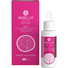 BasicLab Serum wodne z witaminą C 10% - napięcie i wzmocnienie naczynek, 30ml