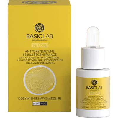 Antyoksydacyjne serum przeciwzmarszczkowe i regenerujące - odżywienie i wygładzenie - 15ml BasicLab