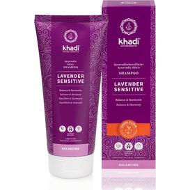 Khadi Delikatny szampon do wrażliwej skóry głowy - Hibiskus i lawenda, 200 ml