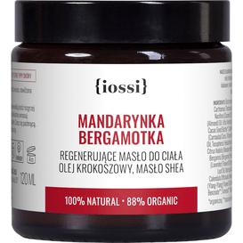IOSSI Mandarynka Bergamotka - Aromatyczne masło do ciała z olejem krokoszowym, 120 ml
